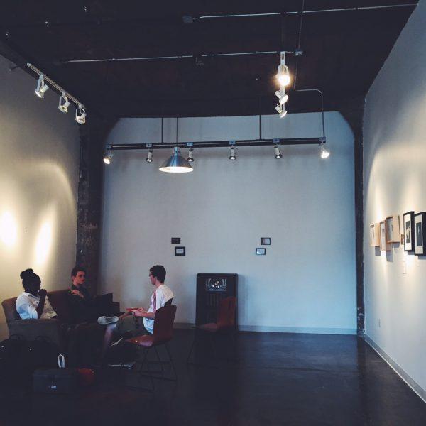 Matt Abeler and his video interns: O'Quba and Eli
